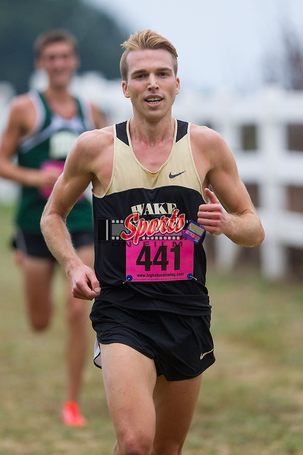 The Wake Forest Demon Deacons men's cross country team played host at the Wake Forest Invitational at Beeson Park on September 20, 2013 in Kernersville, North Carolina.  (Brian Westerholt/Sports On Film)