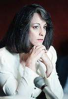 Dec 20, 1989 - Chino, California, United States - Convicted Mansion family member Susan Atkins appears at her parole hearing at a state prison in Chino, California Dec. 20, 1989. .(Credit Image: © Alan Greth)