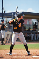 Pittsburgh Pirates Jason Delay (64) at bat during a Florida Instructional League game against the New York Yankees on September 25, 2018 at Yankee Complex in Tampa, Florida.  (Mike Janes/Four Seam Images)