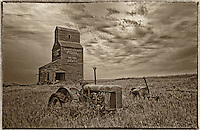 Grain elevator and tractor
