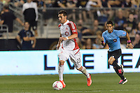Alvaro Rey (23) of Toronto FC. The Philadelphia Union defeated Toronto FC 1-0 during a Major League Soccer (MLS) match at PPL Park in Chester, PA, on October 5, 2013.