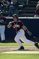 Jon Oller of the Loyola Marymount Lions bats during a game at Page Stadium on March 19, 2003 in Los Angeles, California. (Larry Goren/Four Seam Images)