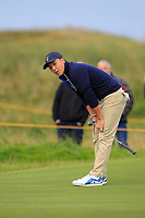 John Pak (USA) on the 3rd during the Foursomes at the Walker Cup, Royal Liverpool Golf CLub, Hoylake, Cheshire, England. 07/09/2019.<br /> Picture Thos Caffrey / Golffile.ie<br /> <br /> All photo usage must carry mandatory copyright credit (© Golffile | Thos Caffrey)