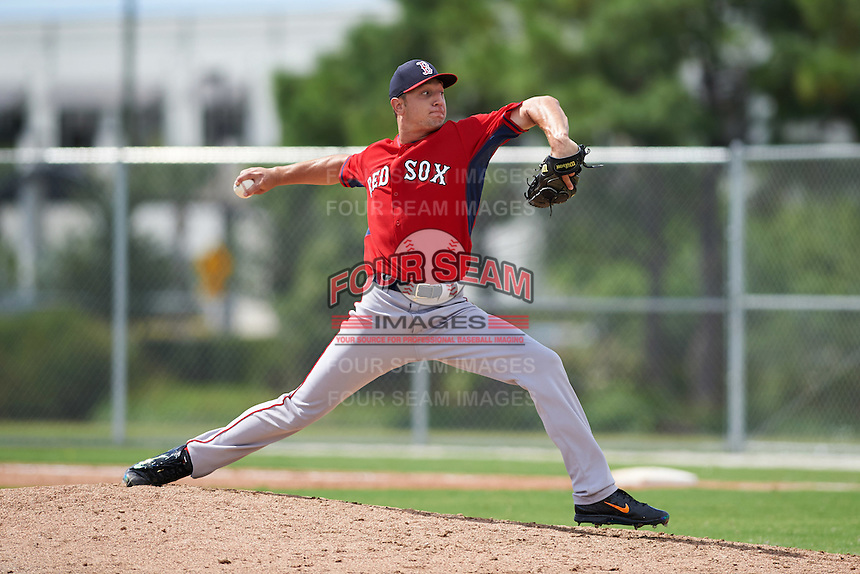 Boston Red Sox pitcher Nick Duron (79) during an instructional league game against the Minnesota Twins on September 26, 2015 at CenturyLink Sports Complex in Fort Myers, Florida.  (Mike Janes/Four Seam Images)
