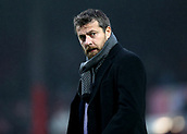 2nd December 2017, Griffen Park, Brentford, London; EFL Championship football, Brentford versus Fulham; Fulham Manager Slavisa Jokanovic looks on while walking towards the dugout before kick off