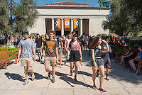 Occidental College welcomes incoming first-year students during Convocation, the formal gathering that marks the beginning of the academic year, August 27, 2014 in Thorne Hall. (Photo by Marc Campos, Occidental College Photographer)