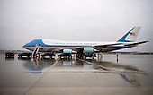 Air Force One is seen on the tarmac at Joint Base Andrews, Maryland on December 6, 2016. United States President-elect Donald Trump tweeted this morning that the government should cancel the order for the new Air Force One replacement from Boeing, citing the more than $4 billion price tag. <br /> Credit: Kevin Dietsch / Pool via CNP