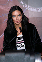 NEW YORK, NY - NOVEMBER 7: Adriana Lima at the ceremonial lighting of the Empire State Building in celebration of the 2018 Victoria&rsquo;s Secret Fashion Show Holiday Special  on November 7, 2018 in New York City. <br /> CAP/MPI99<br /> &copy;MPI99/Capital Pictures