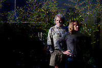 Los Angeles, California, November 14, 2009 - Portrait of Ernie and Diane Wolfe in their home, based on a Quonset hut. The Wolfe's own the Ernie Wolfe Gallery and are the most reknowned African at dealers in the country. ..CREDIT: Daryl Peveto for The Wall Street Journal.Homefront - Ernie Wolfe #1348