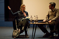 """(From L To R) Clare Longrigg & Pif. <br /> <br /> London, 25/03/2017. Today, CinemaItaliauk held the premiere of the Italian movie """"In Guerra Per Amore"""" (At War With Love) at the Genesis Cinema in London's Whitechapel (On London's 11 Best Independent Cinemas list). Special guest of the event was the Director and main actor of the movie Pif (Aka Pierfrancesco Diliberto, Italian television host and film director and actor and writer) who held a Q&A with Clare Longrigg, deputy Editor of the Guardian. After the success with """"The Mafia Kills Only in Summer"""" (2013), Pif is back with a love comedy based on true facts in which the Sicilian Director shows the agreement, made during World War II between the US Army and the Sicilian mafia, to invade and occupy Sicily without provoking any trouble, re-establishing the criminal power of """"Cosa Nostra"""" on the Italian southern island. <br /> <br /> For more information please click here: http://www.imdb.com/title/tt5263116/ & https://www.facebook.com/events/237675699972952/ & https://www.facebook.com/CinemaItaliaUk/<br /> <br /> For more information please click here: http://www.imdb.com/title/tt5263116/ & https://www.facebook.com/events/237675699972952/ & https://www.facebook.com/CinemaItaliaUk/"""