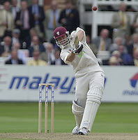 Photo Peter Spurrier.31/08/2002.Cheltenham & Gloucester Trophy Final - Lords.Somerset C.C vs YorkshireC.C..Somerset batting Michael Burns..