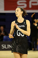 JOHANNESBURG, SOUTH AFRICA - JANUARY 28: Bailey Mes of the Silver Ferns takes to court before the Netball Quad Series netball match between Diamonds and Silver Ferns at the Ellis Park Arena in Johannesburg. Mandatory Photo Credit: ©Reg Caldecott/Michael Bradley Photography