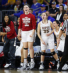 SIOUX FALLS, SD: MARCH 6: The IUPUI bench reacts to a score against South Dakota State during the Summit League Basketball Championship on March 6, 2017 at the Denny Sanford Premier Center in Sioux Falls, SD. (Photo by Dick Carlson/Inertia)