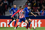 William Kvist (R) of FC Copenhague fights for the ball with Fernando Torres of Atletico de Madrid during the UEFA Europa League 2017-18 Round of 32 (2nd leg) match between Atletico de Madrid and FC Copenhague at Wanda Metropolitano  on February 22 2018 in Madrid, Spain. Photo by Diego Souto / Power Sport Images