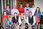Helen O'Connor and John Fleming Killarney who celebrated the christening of their son James in the Royal Hotel, Killarney on Saturday with their family and friends front row l-r: Donagh O'Connor, Olivia O'Connor, Helen O'Connor, John Fleming. Back row: Katie, Marie and Denis O'Connor, Trish Fleming, Jack O'Connor, Pat Fleming, Jason O'Brien and Keelie O'Connor..