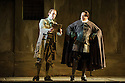 English National Opera presents THE BARBER OF SEVILLE, by Gioachino Rossini, directed by Jonathan Miller, at the London Coliseum. Picture shows: Morgan Pearse (Figaro), Eleazar Rodriguez (Count Almaviva)