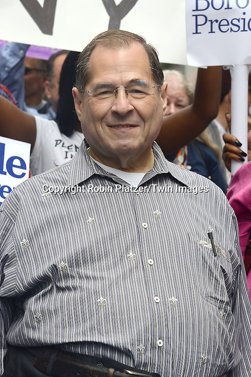 Jerry Nadler attends the 2015 NYC Pride March on June 28, 2015 on Fifth Avenue in New York City. <br /> <br /> photo by Robin Platzer/Twin Images<br />  <br /> phone number 212-935-0770
