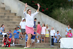 24 August 2014: OSU head coach Lori Walker. The University of North Carolina Tar Heels hosted the Ohio State University Buckeyes at Fetzer Field in Chapel Hill, NC in a 2014 NCAA Division I Women's Soccer match. UNC won the game 1-0.