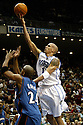 29 January 25: Doug Christie (#1 Guard) going for a lay-up (while Jarvis Hayes trying to defend) during the 108-101 victory over the Washington Wizards at the TD Waterhouse Center in Orlando, Florida.Mandatory Credit: Rob Holt/ICON SMI