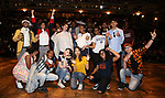 """High School Student performers during a Q & A before The Rockefeller Foundation and The Gilder Lehrman Institute of American History sponsored High School student #EduHam matinee performance of """"Hamilton"""" at the Richard Rodgers Theatre on June 6, 2018 in New York City."""