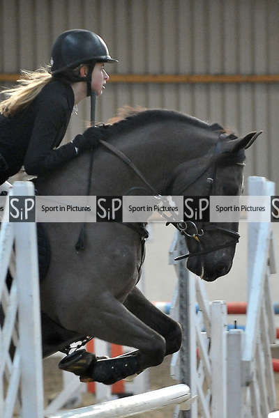 Class 3. Discovery. British showjumping juniors. Brook Farm Training Centre. Stapleford Abbotts. UK. 07/01/2018. ~ MANDATORY CREDIT Garry Bowden/Sport in Pictures - NO UNAUTHORISED USE - +44 7837 394578