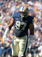 Pitt defensive lineman Aaron Donald (97).The Pitt Panthers defeated the New Mexico Lobos 49-27 on Saturday, September 14, 2013 at Heinz Field, Pittsburgh, Pennsylvania.