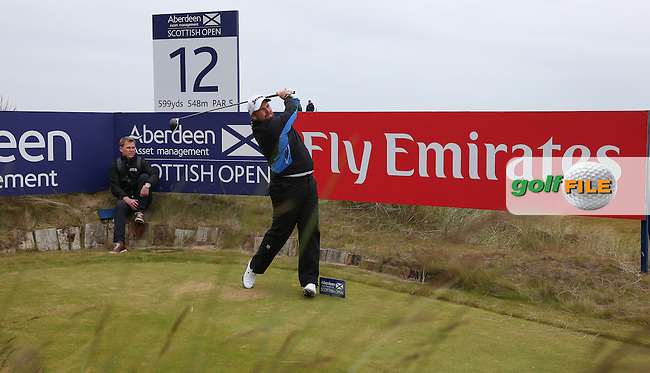 Shane Lowry (IRL) during the Pro-Am ahead of 2016 Aberdeen Asset Management Scottish Open, played at Castle Stuart Golf Club, Inverness, Scotland. 06/07/2016. Picture: David Lloyd | Golffile.<br /> <br /> All photos usage must carry mandatory copyright credit (&copy; Golffile | David Lloyd)