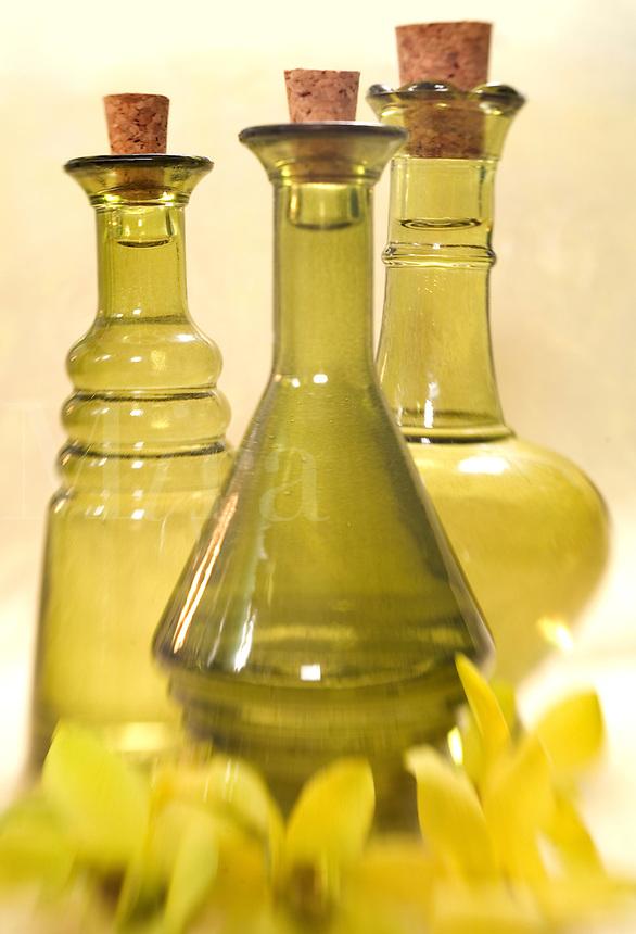 Green Oil Bottles..