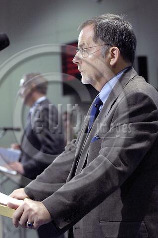 Brussels-Belgium - 09 July 2007---Franz-Hermann BRÜNER (Bruener, Bruner), Director General of the European Anti-Fraud Office (OLAF), in the press room of the EU-Commission---Photo: Horst Wagner/eup-images