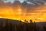 Sunrise is beautiful in Yellowstone.