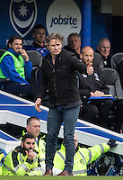 Wycombe Wanderers Manager Gareth Ainsworth gives thumb up during the Sky Bet League 2 match between Portsmouth and Wycombe Wanderers at Fratton Park, Portsmouth, England on 23 April 2016. Photo by Andy Rowland.