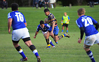 Action from the Transit Coachlines Top 4 Wellington 1st XV secondary schools rugby union match between Rongotai College and St Patricks College Town at Scots College in Wellington, New Zealand on Saturday, 4 July 2020. Photo: Dave Lintott / lintottphoto.co.nz