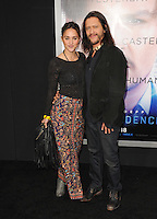 Clifton Collins Jr &amp; guest at the Los Angeles premiere of his movie &quot;Transcendence&quot; at the Regency Village Theatre, Westwood.<br /> April 10, 2014  Los Angeles, CA<br /> Picture: Paul Smith / Featureflash