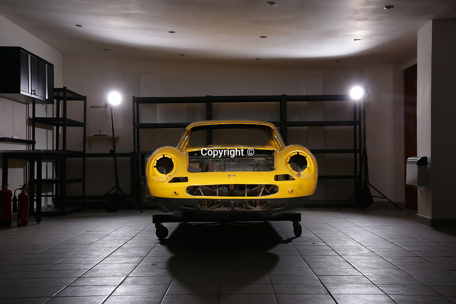 BNPS.co.uk (01202 558833)<br /> Pic: Historics/BNPS<br /> <br /> Ferrari Box...ster.<br /> <br /> A classic Ferrari has emerged for sale for a whopping £165,000 despite the fact the vast majority of its parts are currently sat in boxes.<br /> <br /> The Dino 246GT was dismantled in the 1970s by its then owner as part of a restoration project, which never got off the ground.<br /> <br /> The parts were meticulously filed into around 60 cardboard boxes where they remain to this day filling several shelves.