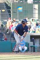 Potomac Nationals infielder Drew Ward (17) at bat during a game against the Myrtle Beach Pelicans at Ticketreturn.com Field at Pelicans Ballpark on May 23, 2015 in Myrtle Beach, South Carolina.  Myrtle Beach defeated Potomac 7-3. (Robert Gurganus/Four Seam Images)