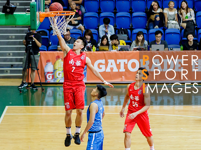 Lam Hoi Kwong #7 of SCAA Men's Basketball Team goes to the basket against the Fukien during the Hong Kong Basketball League game between SCAA and Fukien at Southorn Stadium on June 01, 2018 in Hong Kong. Photo by Yu Chun Christopher Wong / Power Sport Images