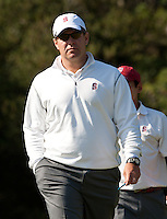 Stanford, Ca - Thursday, May 18, 2012: Stanford Golf plays in the NCAA Regionals held at the Stanford Golf Course. Knowles Family Director of Men's Golf Conrad Ray