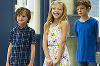 Wonder (2017)<br /> Jacob Tremblay as &quot;Auggie,&quot; Elle McKinnon as &quot;Charlotte&quot; and Noah Jupe as &quot;Jack Will&quot;<br /> *Filmstill - Editorial Use Only*<br /> CAP/KFS<br /> Image supplied by Capital Pictures