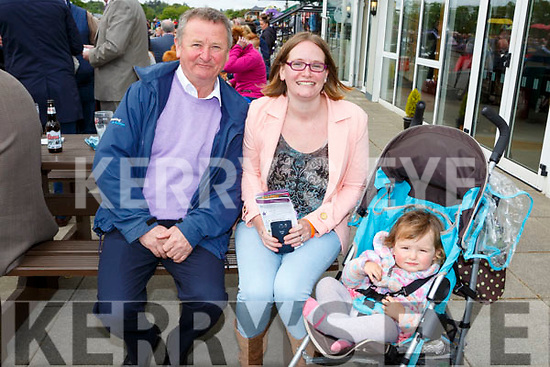 Mike Quirke, Mary Briney and Areis Briney Killarney at the Killarney races on Sunday