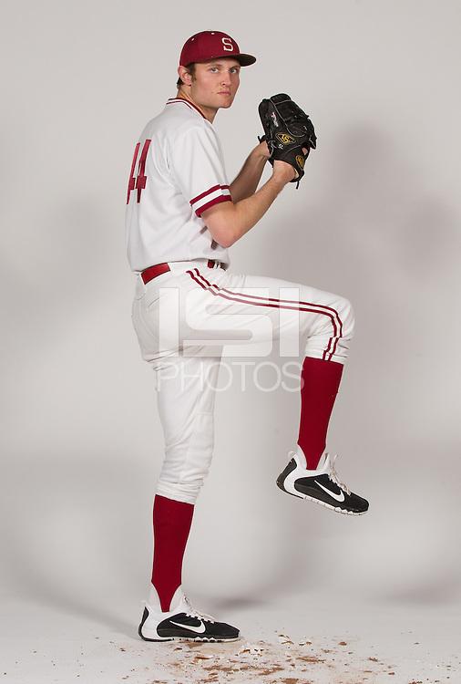 STANFORD, CA - JANUARY 13, 2016-- Spenser Linney, of the Stanford Men's Baseball team.