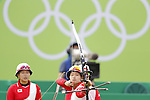 Kaori Kawanaka (JPN),<br /> AUGUST 7 2016 - Archery : <br /> Women's teaml final Round Quarter finals<br /> at Sambodromo <br /> during the Rio 2016 Olympic Games in Rio de Janeiro, Brazil. <br /> (Photo by Yusuke Nakanishi/AFLO SPORT)