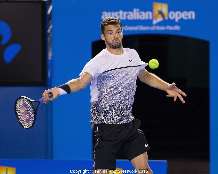Grigor Dimitrov (BUL)<br /> <br /> Tennis - Australian Open 2015 - Grand Slam ATP / WTA -  Melbourne Olympic Park - Melbourne - Victoria - Australia  - 26 January 2015.