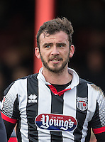 Gavin Gunning of Grimsby Town during the Sky Bet League 2 match between Grimsby Town and Wycombe Wanderers at Blundell Park, Cleethorpes, England on 4 March 2017. Photo by Andy Rowland / PRiME Media Images.