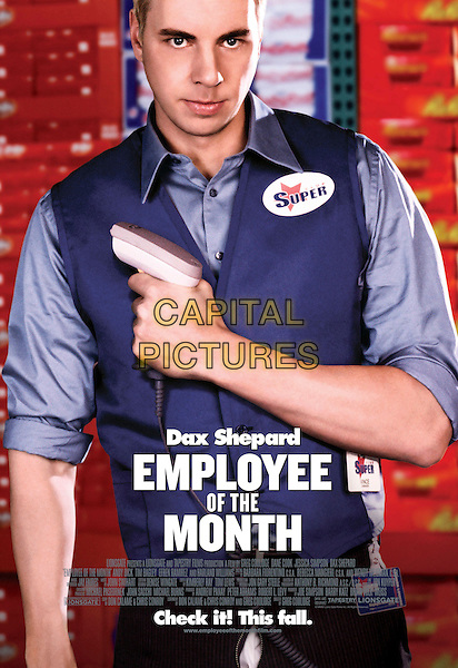 POSTER ART FEATURING DAX SHEPARD.in Employee of The Month.*Editorial Use Only*.Ref: FB.www.capitalpictures.com.sales@capitalpictures.com.Supplied by Capital Pictures.