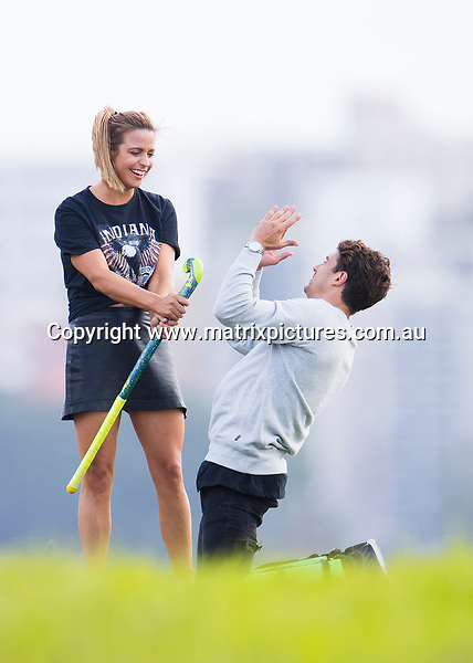 11 APRIL 2017 SYDNEY AUSTRALIA<br /> WWW.MATRIXPICTURES.COM.AU<br /> <br /> EXCLUSIVE PICTURES<br /> <br /> Bachelor Matty J pictured on a solo date with a contestant. The date started with Matty boarding a vintage bus with his date for a tour around Sydney taking in the sites around Bondi and Dover Heights. Matty and his date then played some field hockey before some refreshments at a mock up Lemonade Stand. The date rolled into the evening with the couple moving onto a cruise around the harbour on a luxury vessel where the pair stripped down to their swimmers for a hut tub while sipping champagne.  <br /> <br /> Note: All editorial images subject to the following: For editorial use only. Additional clearance required for commercial, wireless, internet or promotional use.Images may not be altered or modified. Matrix Media Group makes no representations or warranties regarding names, trademarks or logos appearing in the images.