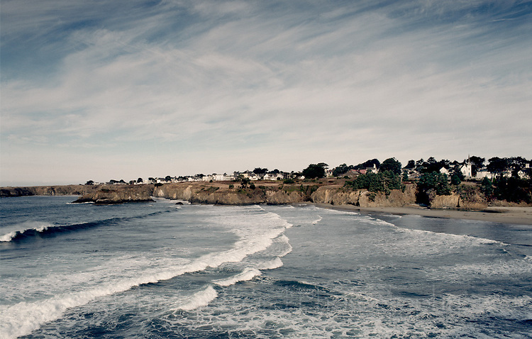 "Mendocino on the Pacific Coast of Northern California.  100 mg tango scan from 2 1/4"" film.. © John Birchard"