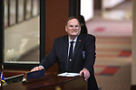 Nevada Senate Sgt. at Arms Bob Milby works the Senate floor session at the Legislative Building in Carson City, Nev., on Monday, March 23, 2015. <br /> Photo by Cathleen Allison