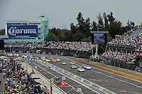04/20/08 Mexico City .Polesitter Colin Braun's Ford Fusion leads the field out of the stadium turn and to the green flag.
