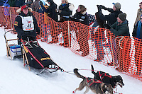 Musher # 46 Ed Stielstra at the Restart of the 2009 Iditarod in Willow Alaska