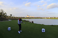 Pablo Larrazabal (ESP) tees off the 9th tee during Tuesday's Pro-Am Day of the 2014 BMW Masters held at Lake Malaren, Shanghai, China 28th October 2014.<br /> Picture: Eoin Clarke www.golffile.ie